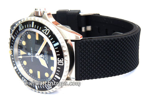 22mm Silicon Rubber Watch Strap Distinctive textured Surface For Steinhart Watches