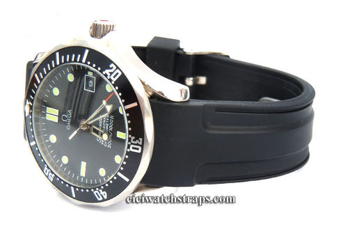Pro Divers Curved Lugs Silicon Rubber watch Strap For Omega Seamaster Professional