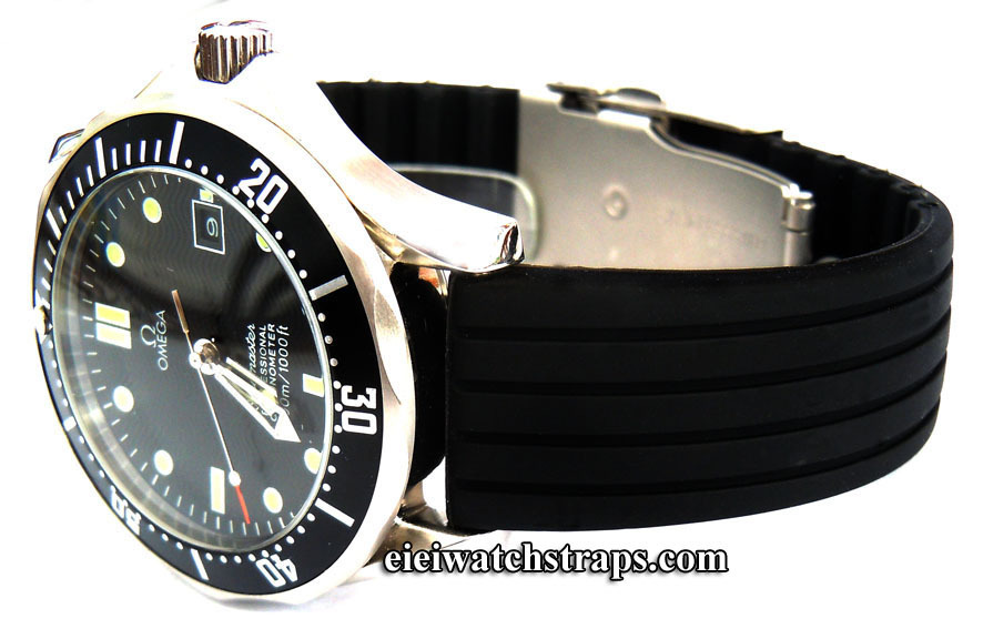 20mm Silicon Rubber Watch Strap With Stainless Steel