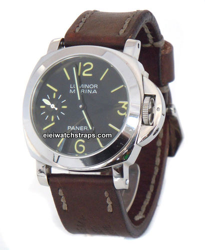 Geneva Handmade Vintage style Ammo leather watchstrap for Panerai Watches