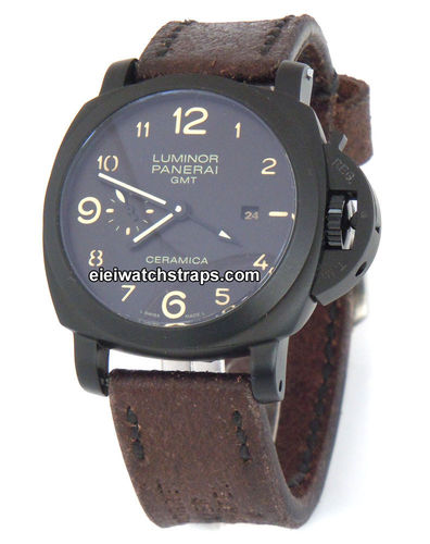 Potter Handmade Vintage style Ammo leather watchstrap for Panerai Watches