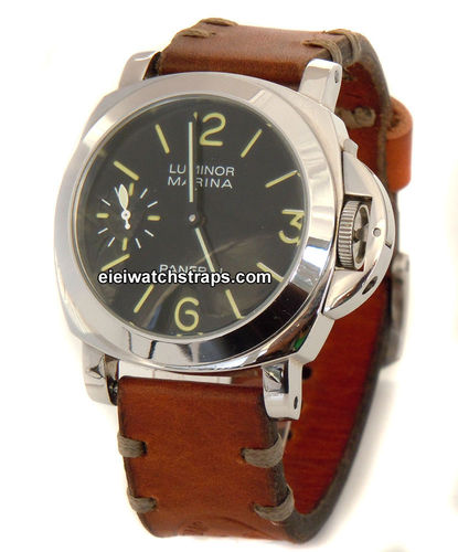 Kunz Vintage style Ammo leather watchstrap for Panerai Watches
