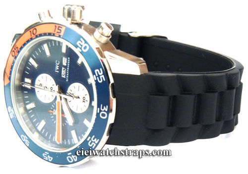 High Grade Silicon Rubber Oyster Pattern With Curved Lugs For IWC Aquatimer