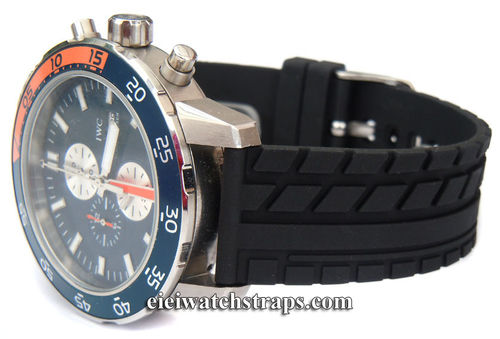 Tyre Tread Rubber Watch Strap For IWC Aquatimer