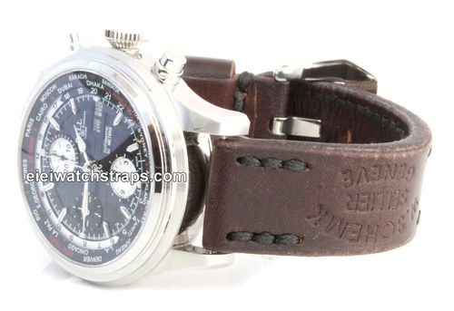 Geneva Handmade Vintage style Ammo leather watchstrap For Ball Watches