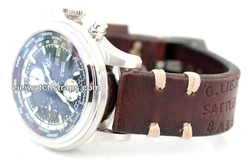 Basel Vintage style Ammo leather watchstrap For Ball Watches