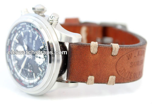 Kunz Handmade Vintage style Ammo leather watchstrap For Ball Watches