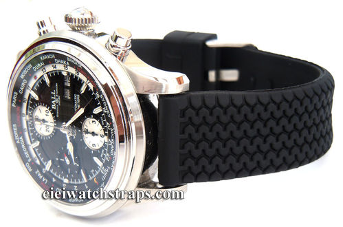 Tyre Tread Silicon Rubber Watch Strap For Ball Watches