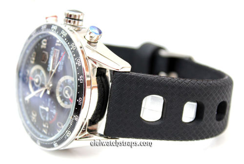 Grand Prix Textured 22mm Silicon Rubber Watch strap Tag Heuer Carrera