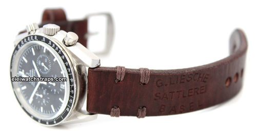 Basel Vintage style Ammo leather watchstrap For Omega Speedmaster