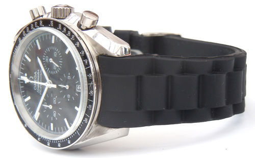 Silicon Rubber Oyster Pattern With Curved Lugs For Omega Speedmaster
