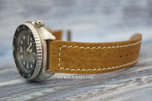 Saddle Brown Leather Watch Strap For Seiko Watches