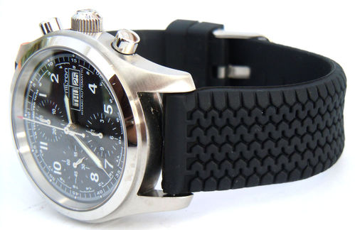 HD Tyre Tread Rubber Watch Strap For Hamilton Watches