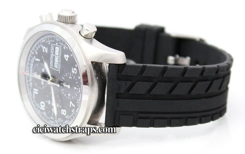 Tyre Tread Rubber Watchstrap For Hamilton Watches