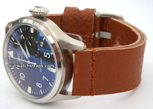 Metta Oiled Brown Leather Watchstrap For IWC pilot's watches