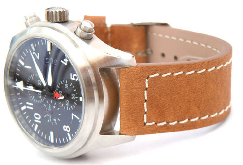 Saddle Brown Leather Watchstrap For IWC Pilot's Watches