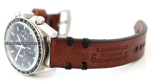 Dom Handmade Vintage style Ammo leather watchstrap For Omega Speedmaster