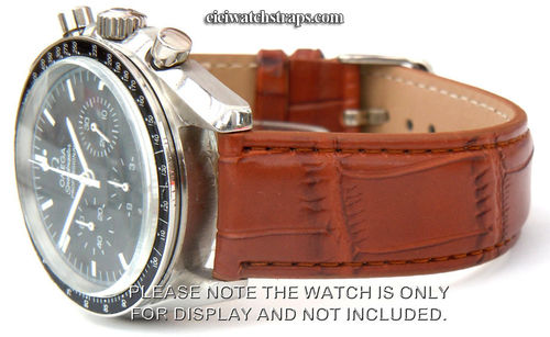 Brown Crocodile Watchstrap For Omega Speedmaster