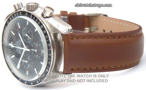 Dark Brown Leather Watchstrap For Omega Speedmaster