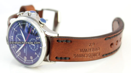 Brooklands Handmade Vintage style Ammo leather watchstrap For IWC Portuguese