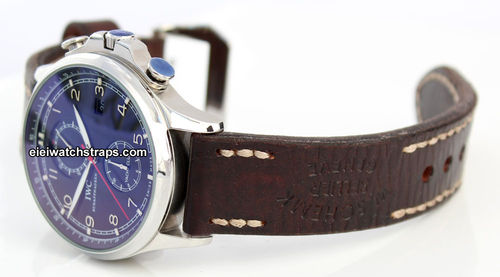 Geneva Handmade Vintage Style Ammo Leather Watchstrap For IWC Portuguese