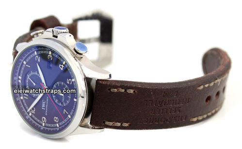 Potter Handmade Vintage style Ammo leather watchstrap for IWC Portuguese