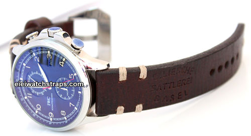 Basel Vintage Style Ammo Leather Watchstrap For IWC Portuguese