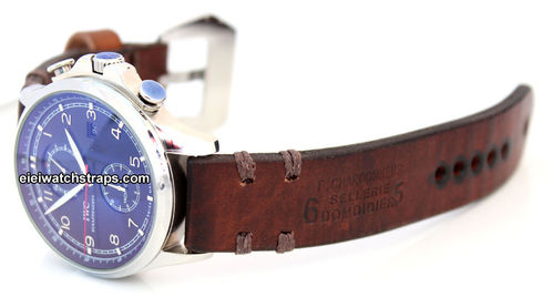 Dom Vintage Style Ammo Leather Watchstrap For IWC Portuguese