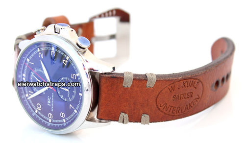 Kunz Vintage Style Ammo Leather Watchstrap For IWC Portuguese