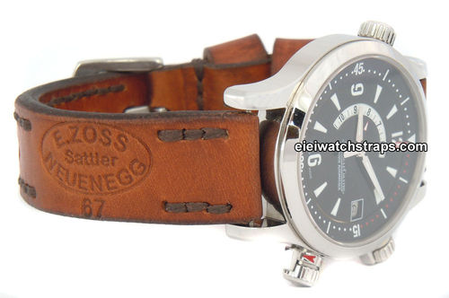 Zoss Handmade Vintage style Ammo leather watchstrap For Jaeger-LeCoultre