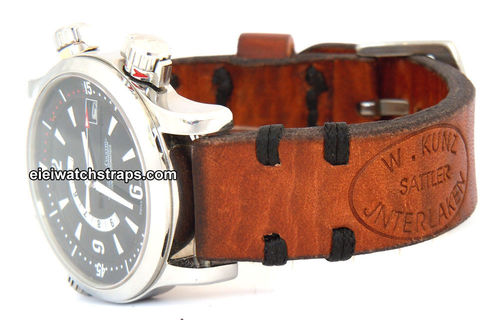 Kunz Handmade Vintage style Ammo leather watchstrap For Jaeger-LeCoultre