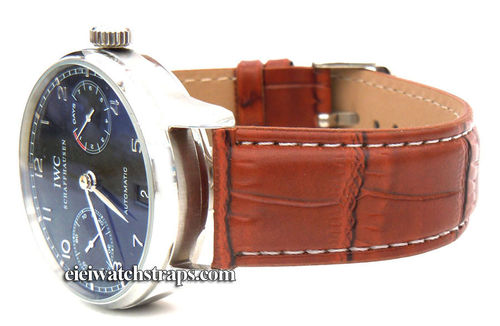Brown Crocodile Watchstrap For IWC Portuguese