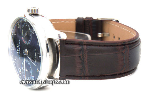 Dark Brown Crocodile Watchstrap For IWC Portuguese