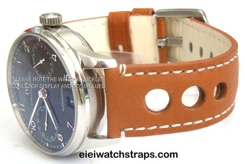 Grand Prix Tan Leather Watchstrap For IWC Portuguese