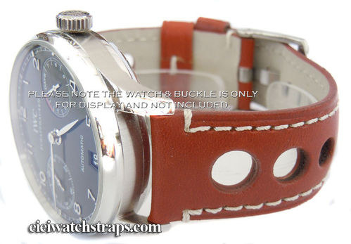 Grand Prix Brown Leather Watchstrap For IWC Portuguese