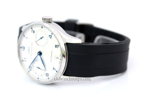 Marine II 22mm Silicon Rubber Divers Watchstrap with curved lugs For IWC Portuguese