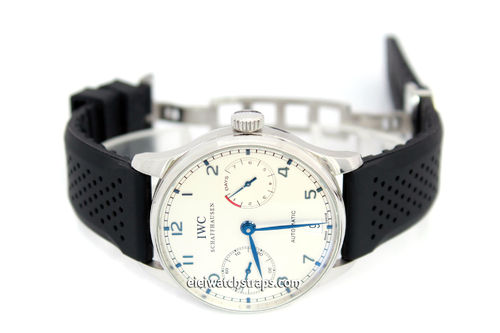 ilmor 22mm Silicon Rubber Divers Watchstrap on Stainless Steel Deployment For IWC Portuguese
