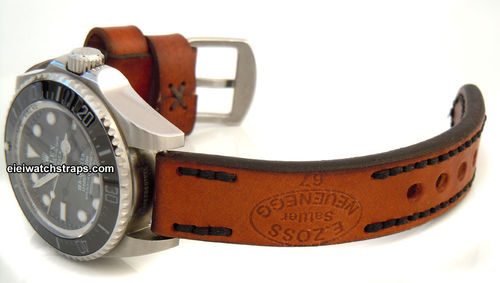Zoss Handmade Vintage style Ammo leather watchstrap For Rolex Watches