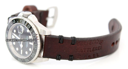 Basel Vintage Style Ammo Leather Watchstrap For Rolex Watches