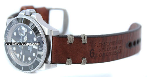 Dom Vintage Style Ammo Leather Watchstrap For Rolex Watches