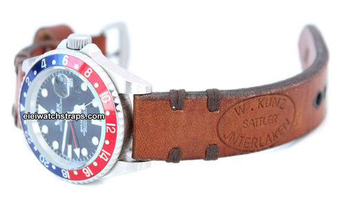 Kunz Vintage Style Ammo Leather Watchstrap For Rolex Watches