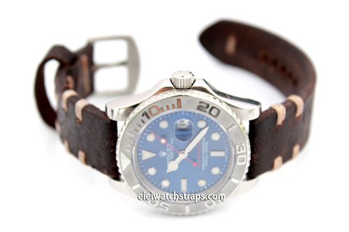 Cuyg Vintage Style Ammo Leather Watchstrap For Rolex Watches
