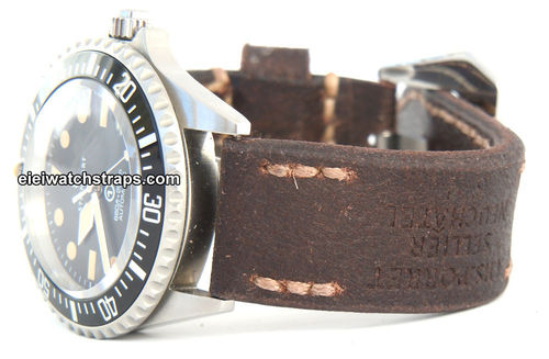Potter Handmade Vintage style Ammo leather watchstrap for Steinhart Watches