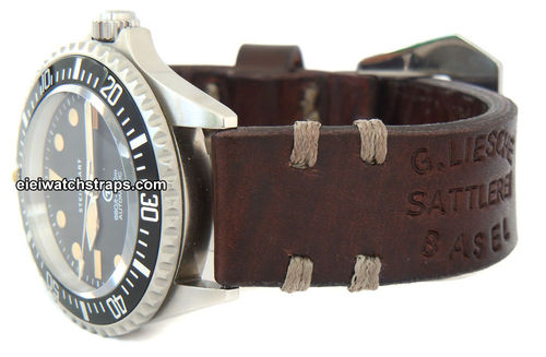 Basel Vintage Style Ammo Leather Watchstrap For Steinhart Watches