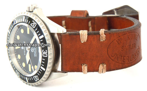 Kunz Vintage Style Ammo Leather Watchstrap For Steinhart Watches
