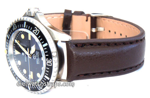 Brown Leather Watchstrap For Steinhart Ocean Vintage Military