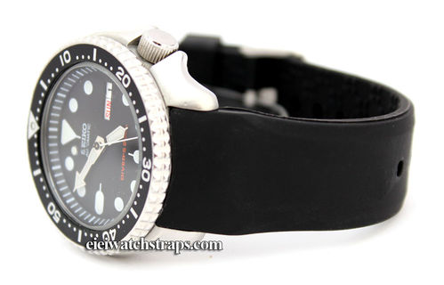 S-Tech Divers Curved Lugs Silicon Rubber watch strap For Seiko Divers Watches