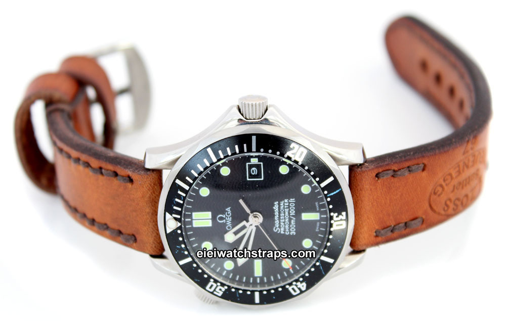 Vintage Style Ammo Leather Watch Strap