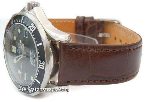 Crocodile Watch Strap For Omega Seamaster Professional
