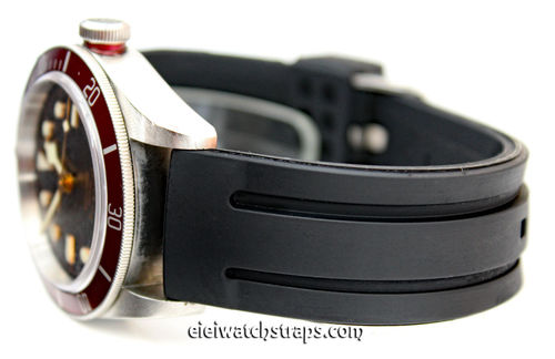 Monaco 22mm Silicon Rubber Watch strap For Tudor Black Bay Watches